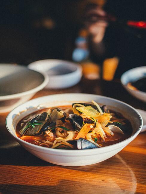 Zupa z owocami morza