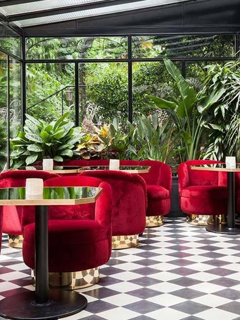 Oranżeria w hotelu L'Hotel Particulier w Montmartre w Paryżu
