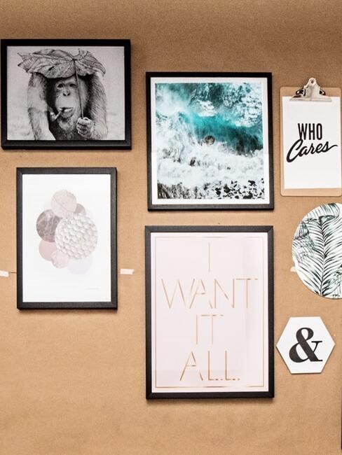 Pomysł na aranżację ściany ze zdjęciami
