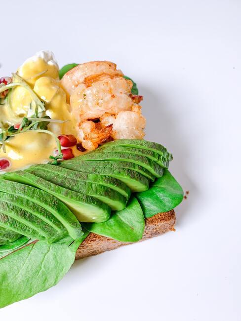 kanapka z krewetkami