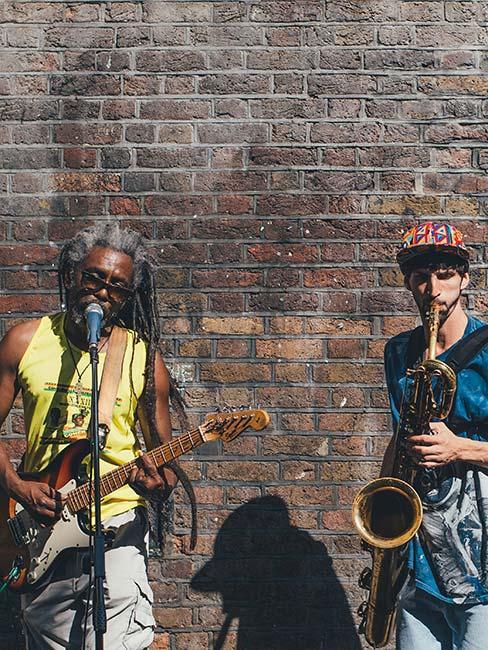 Muzyczni grajkowie w Londynie