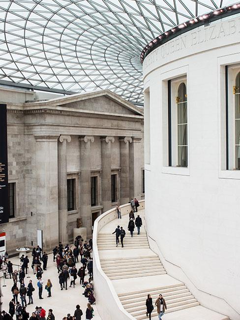 Wnętrte British Museum w Londynie