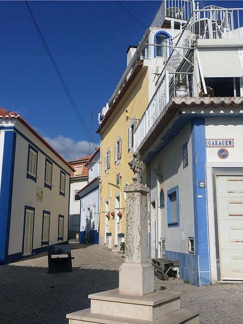 Niebieska uliczka, Ericeira, Portugalia