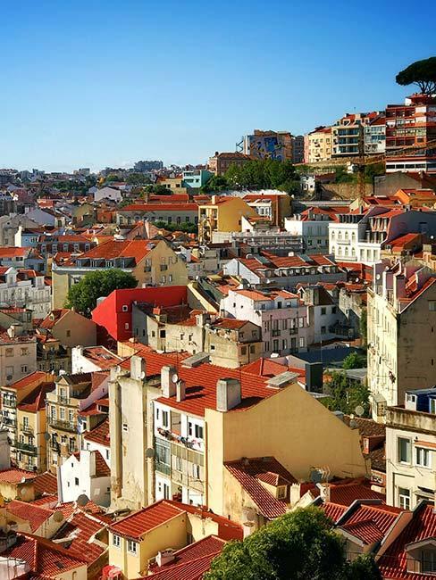 Kolorowe dachy w Porto w Portugalii