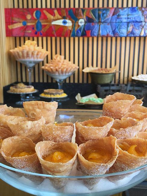 Ciastka na bazie żółtka i cukru w Lizbonie