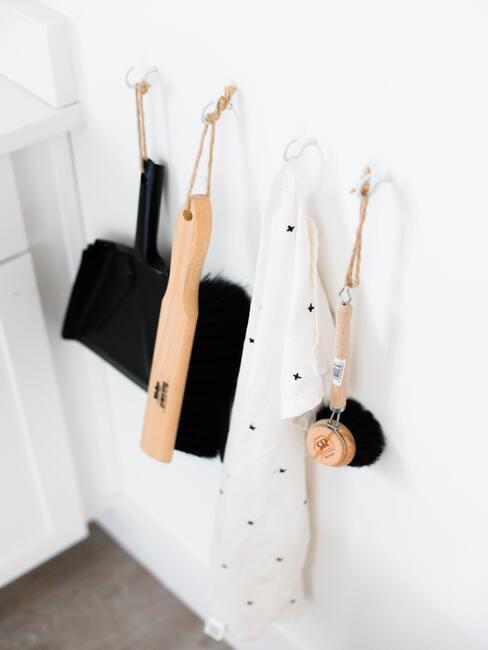Uporządkowane przybory do sprzątania