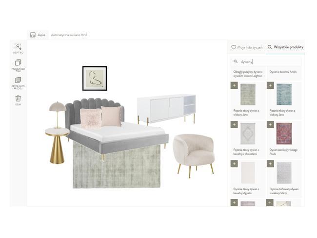 Projekt sypialni w aplikacji room planner