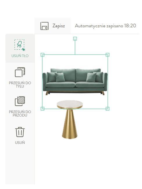 Zbliżenie na aplikację room planner