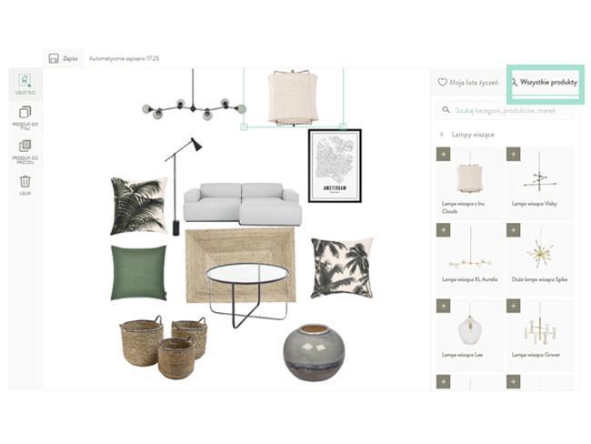 Projekt pokoju w stylu industrialnym na room plannerze