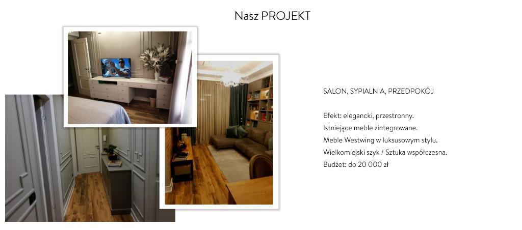 Grafika Westwing pomysłu na projekt salonu