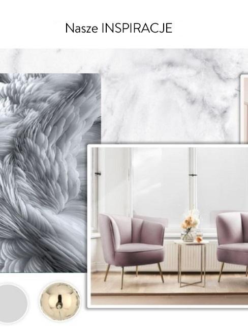 Grafika stworzona przez Westwing przedstawiająca inspirację salonu