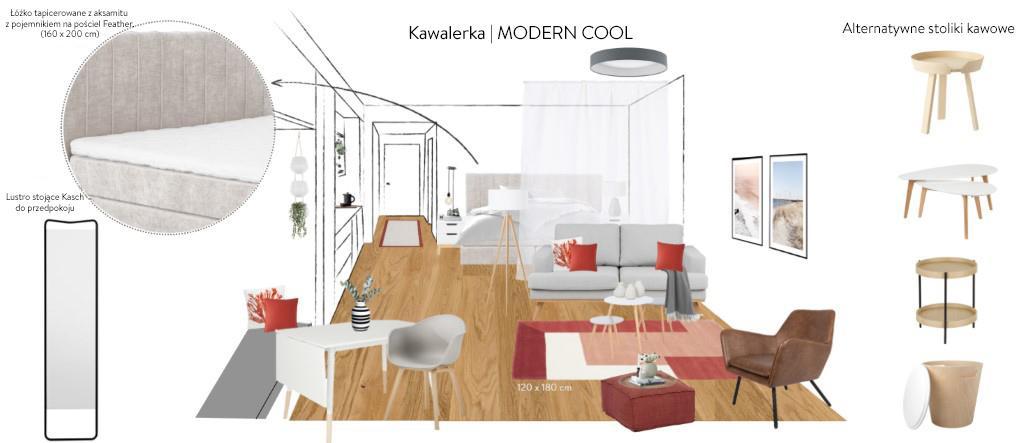 Wizualizacja mieszkania w stylu nowowczesnym