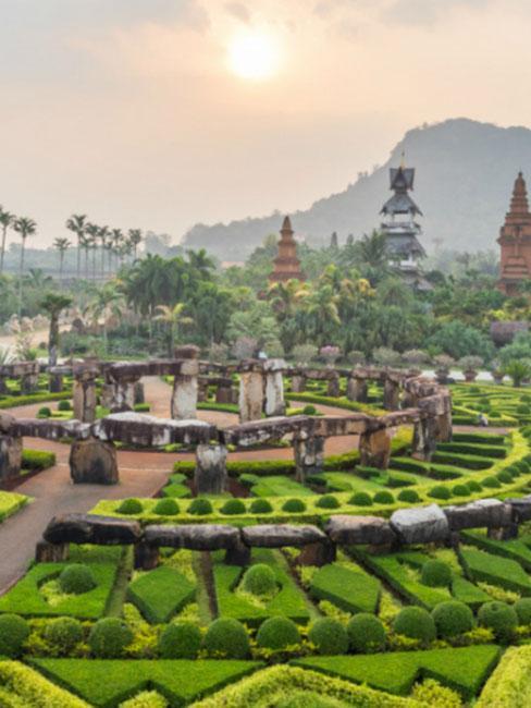 Nong Nooch Tropical Ogród botaniczny Botanical Garden, Tajlandia