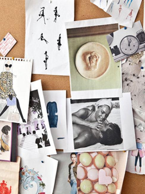 Inspirujące obrazy i zdjęcia na moodboardzie