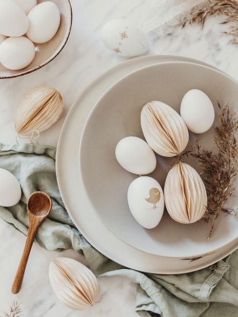 Papierowe jajka, nowoczesne ozdoby wielkanocne