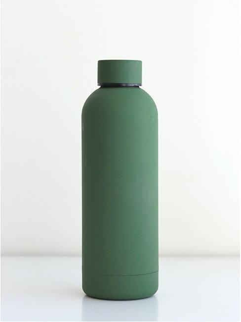 Zielona butelka wielorazowa na wodę