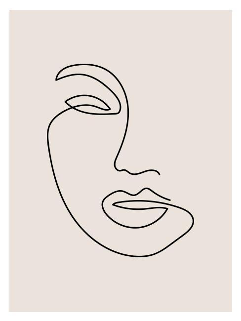 Rusunke twarzy robiony jedną kreską