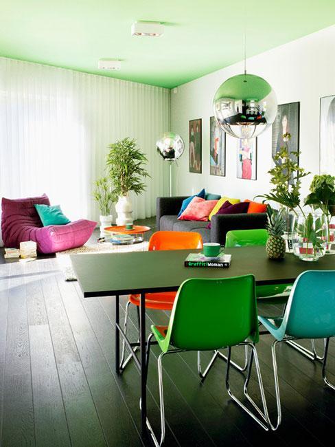 Salon z jadlanią w kolorowych barwach