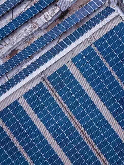 Zbliżenie na panele solarne