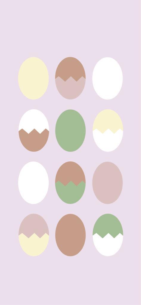 wielkanocna tapeta na telefon w różu z jajeczkami
