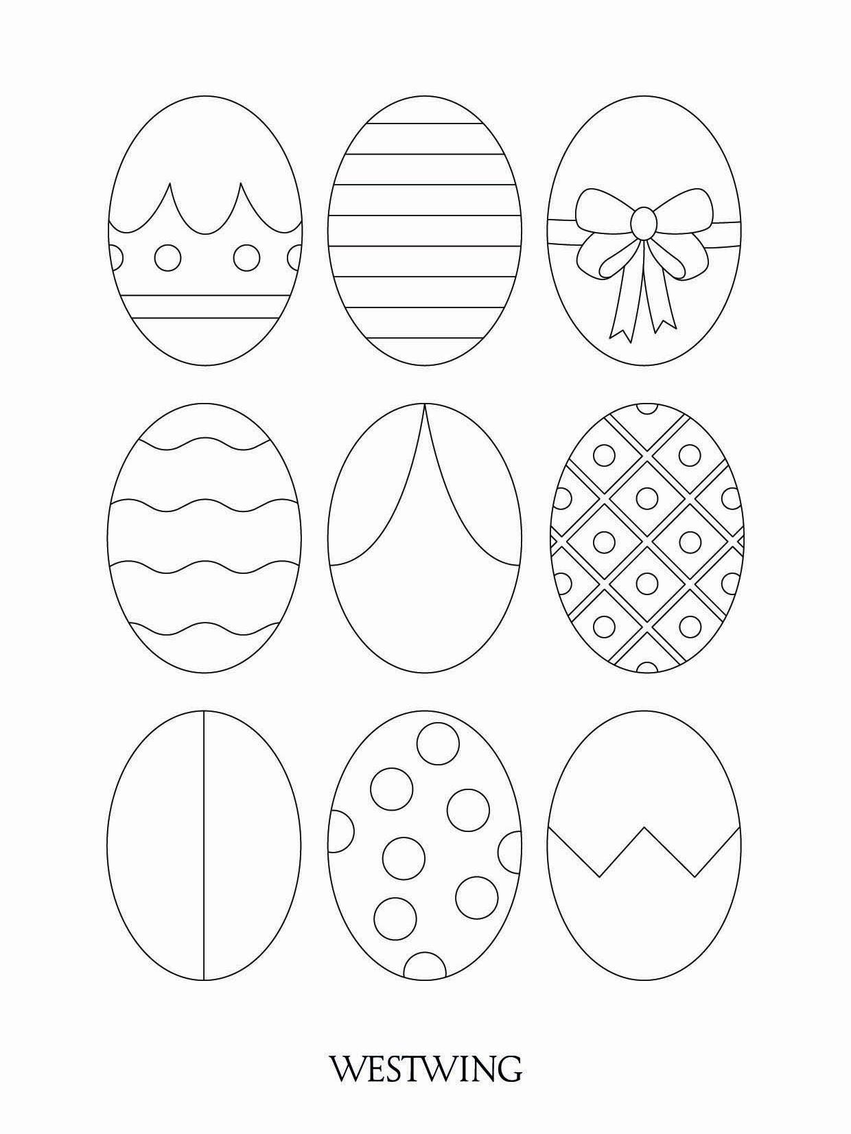 kolorowanka z jajkami wielkanocnymi