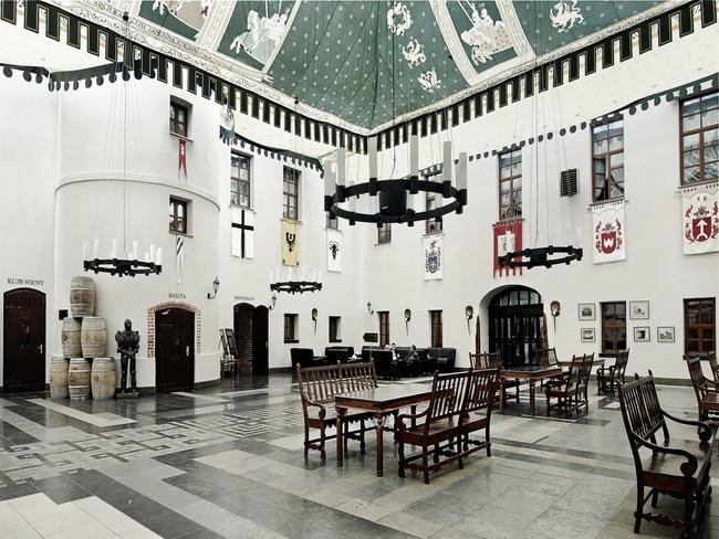 Wnętrze hotelu Zamek Ryn