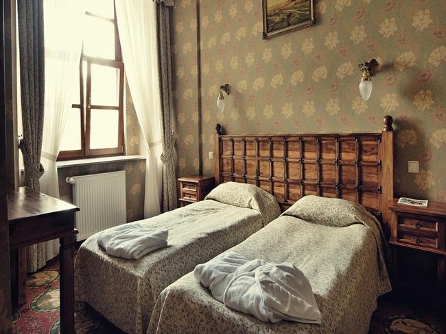 Pokój w hotelu Zamek Ryn