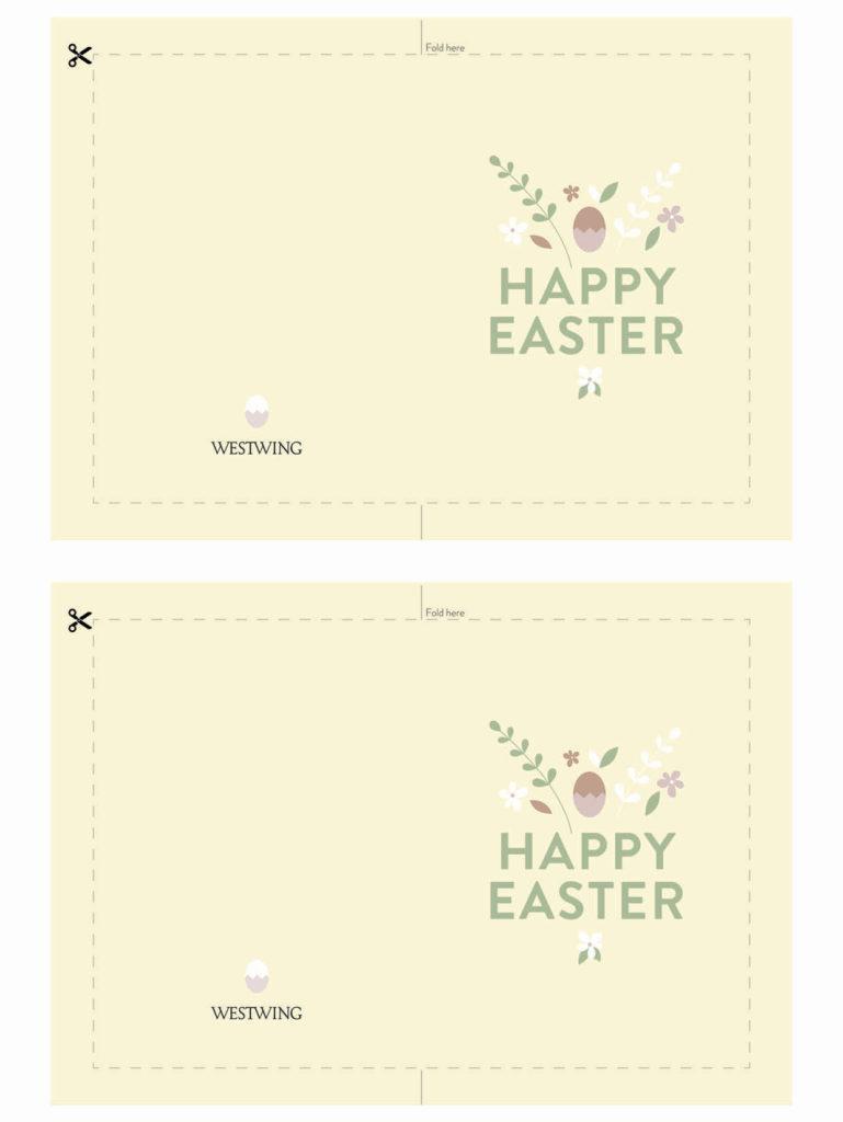 wzór żółtej kartki wielkanocnej do wydrukowania
