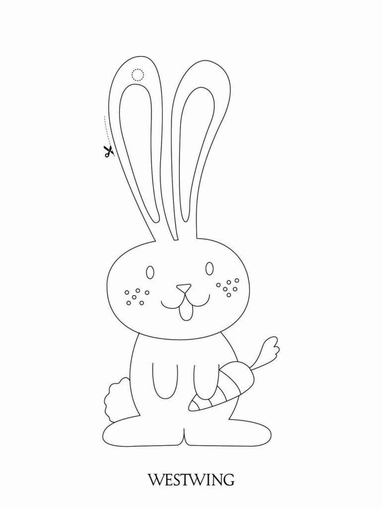 kolorowanka z wielkanocnym króliczkiem