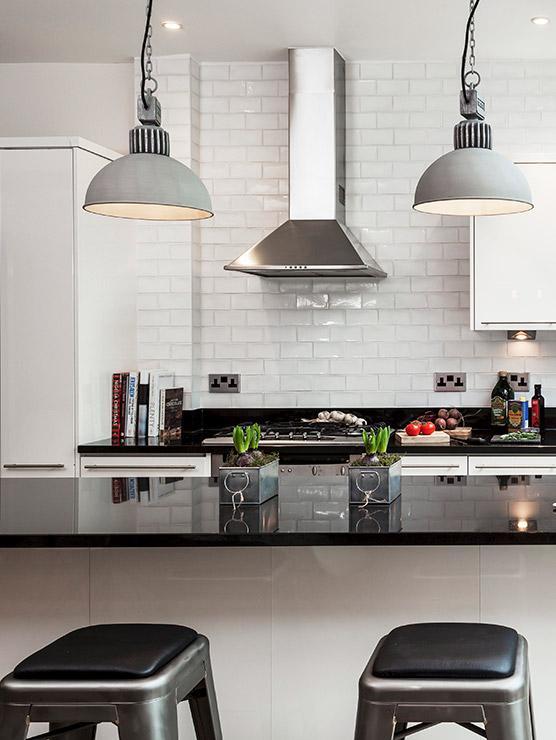 nowoczesna kuchnia w stylu industrialnym