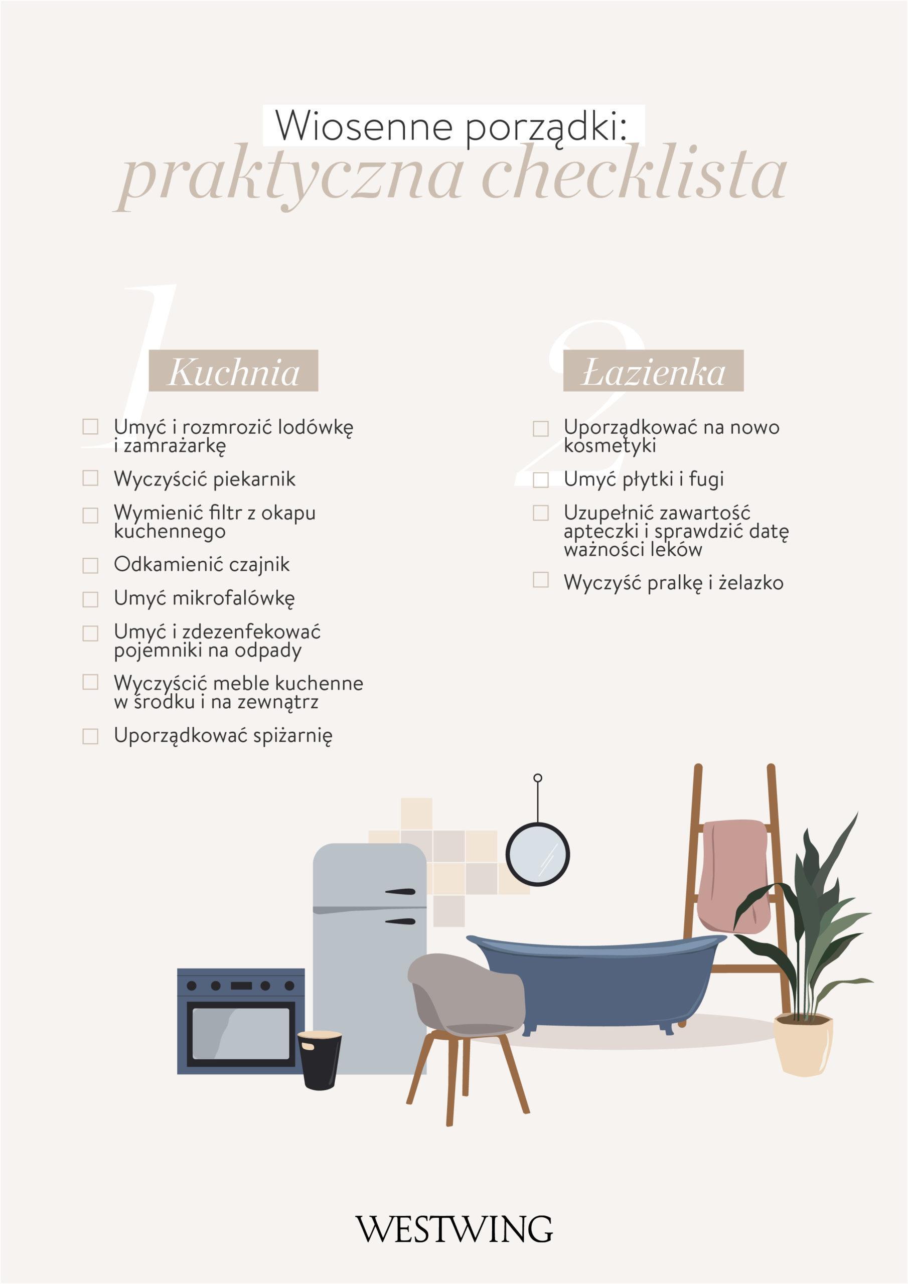 wiosenne porządki checklista salon