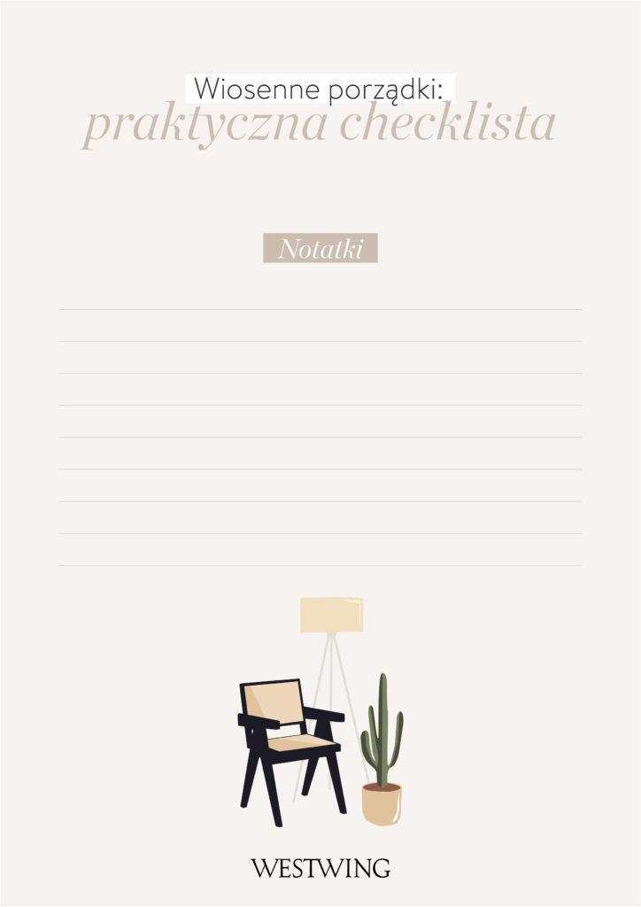 wiosenne porządki checklista notatki