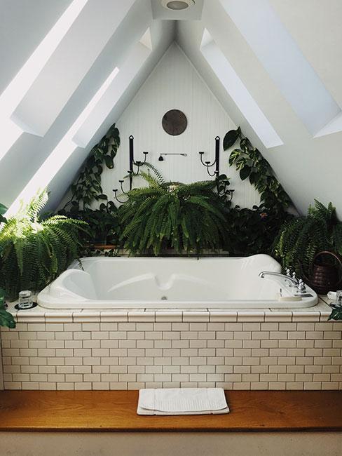 łazienka z wanną na poddaszu