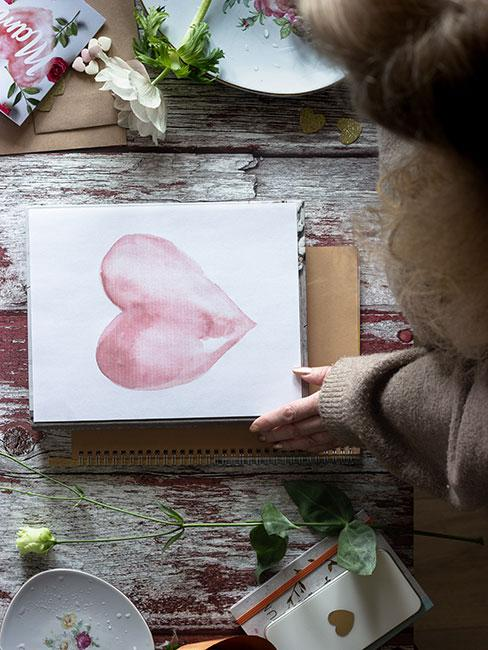 kartka na dzień mamy z sercem