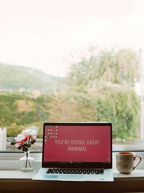 życzenia na dzień matki na komputerze na oknie