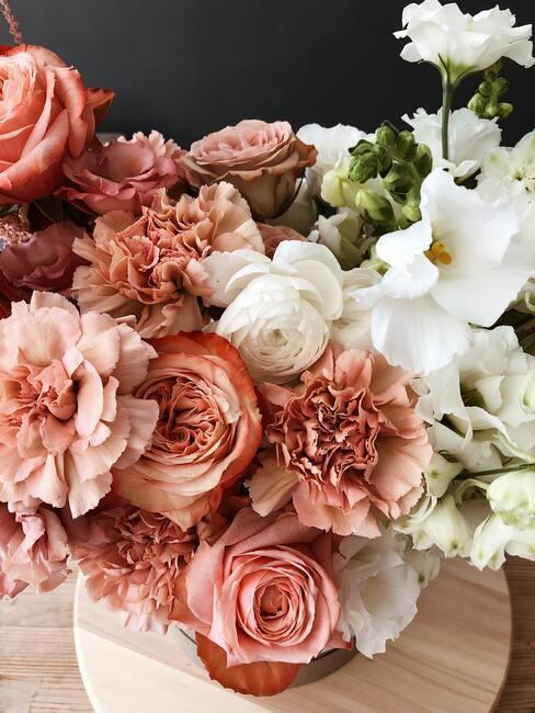 Kwiaty w pastelowych kolorach