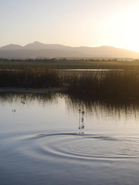 jezioro w wschodzie słońca