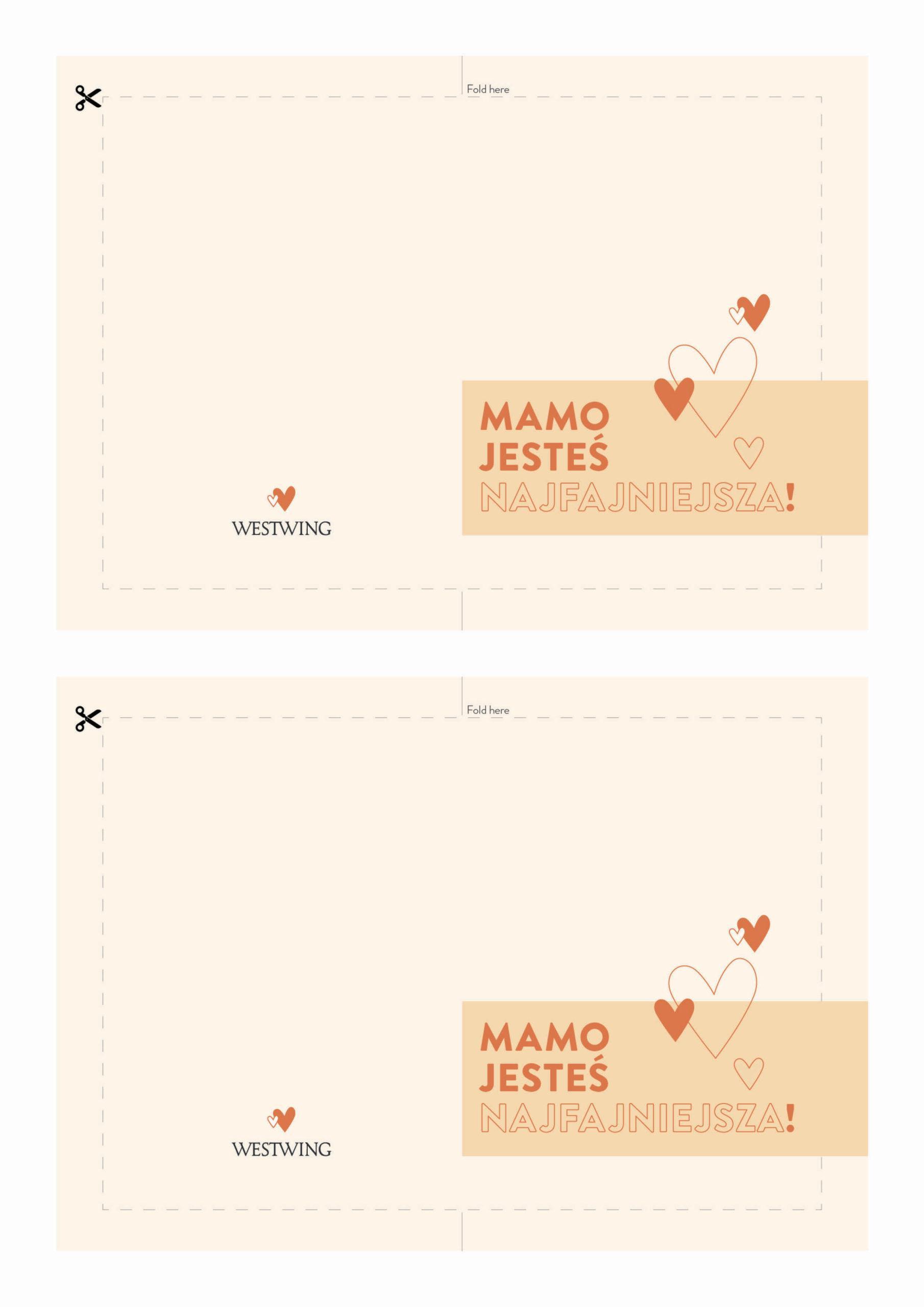 kartka do wydrukowania jako pomysł na prezent dla mamy
