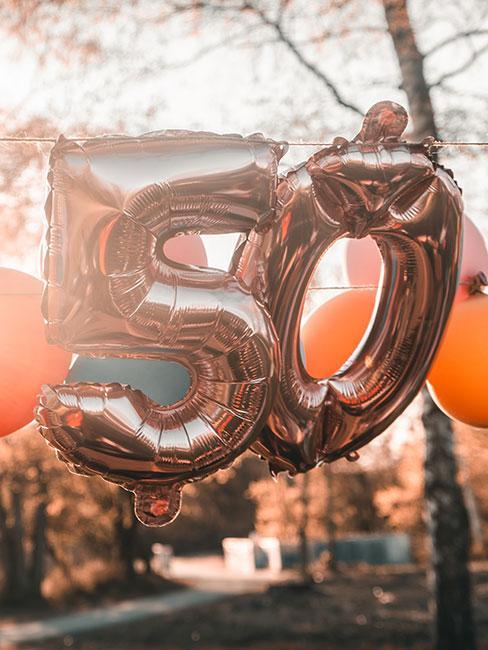 Balony na 50 urodziny