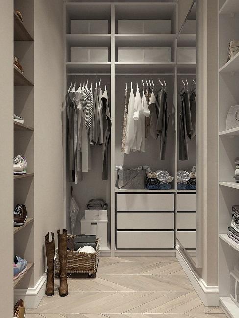 Oddzielna garderoba w sypialni