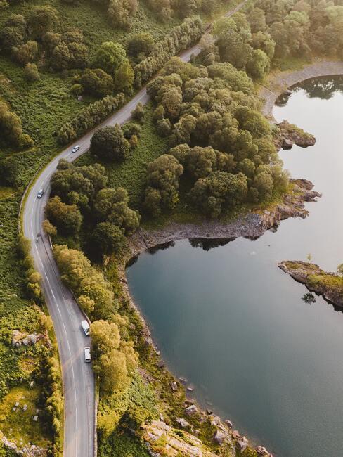 Gdzie nad jezioro - widok z lotu ptaka