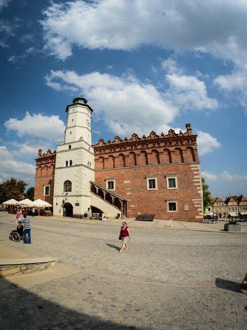 Widok na rynek Sandomierza