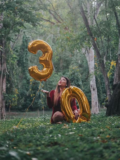 Balony jako prezent na 30 urodziny