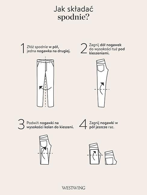 jak składać spodnie szablon