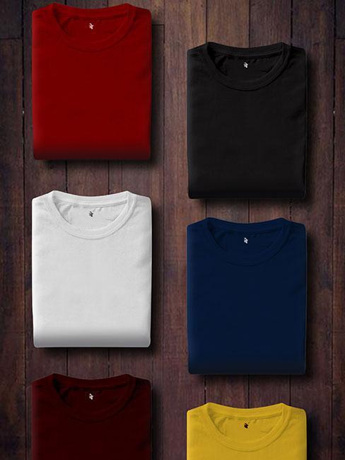 koszulki w różnych kolorach