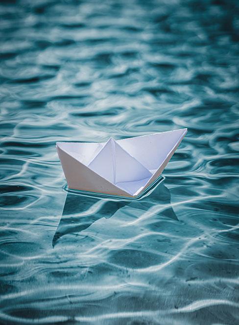 łódka z papieru origami diy dla dzieci