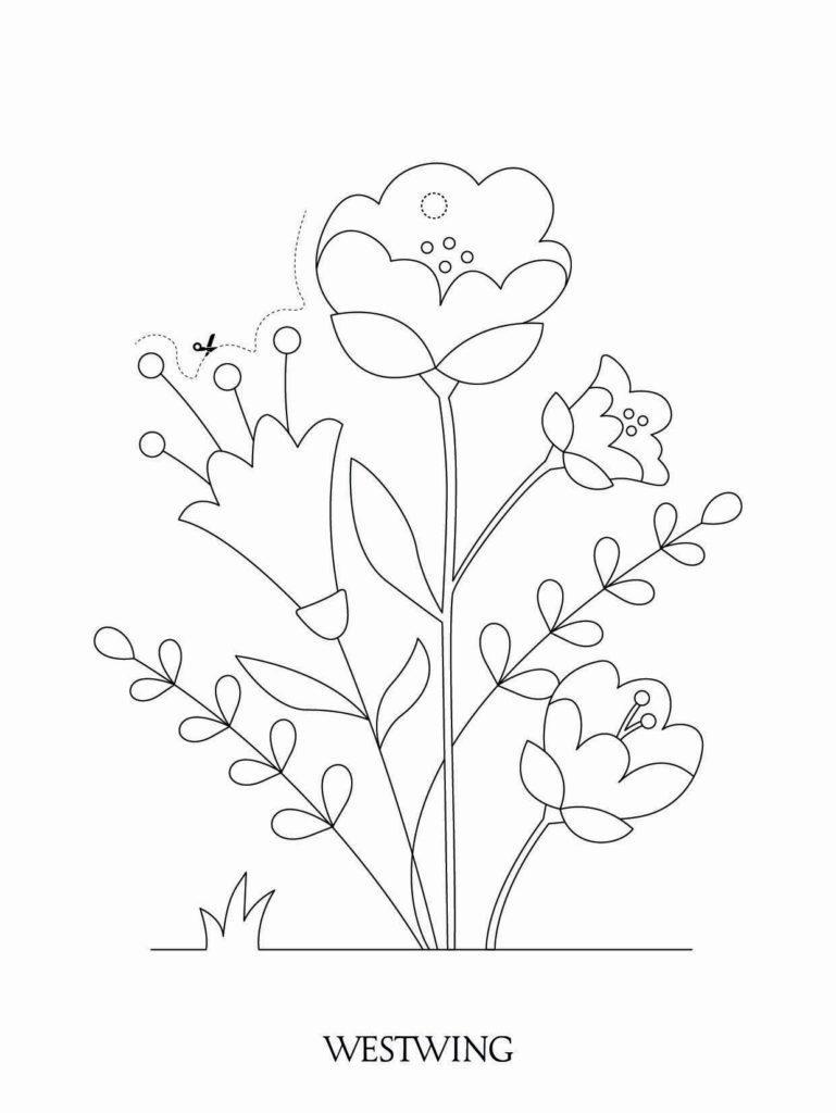 kolorowanka z kwiatami DIY dla dzieci