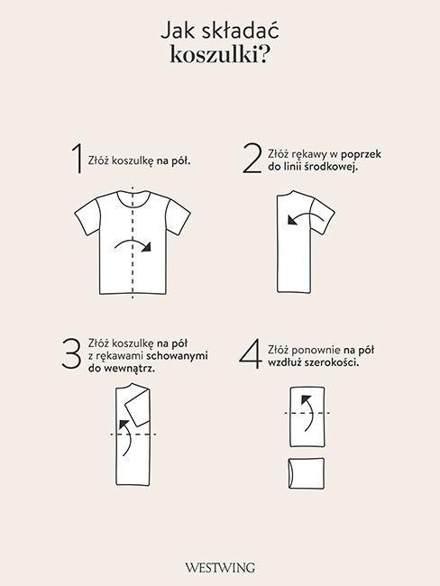organizacja szafy szablon składania ubrań