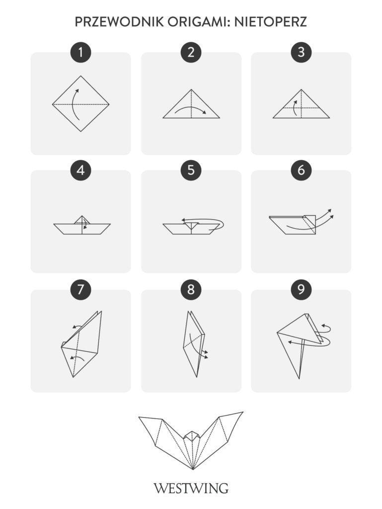 Jak zrobić origami nietoperza krok po kroku
