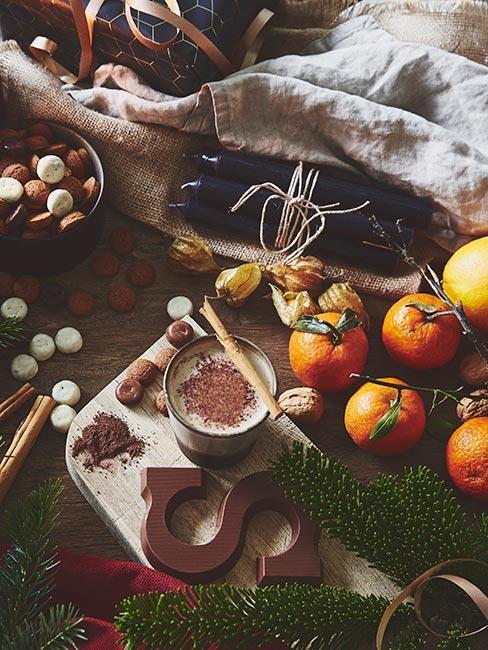 zimowe owoce i nasiona do prac plastycznych dla dzieci